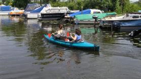 Kayaking, double seat kayak 1