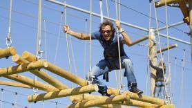 Climbing in the climbing park 2