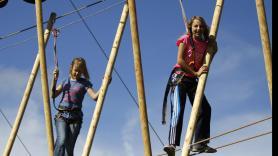 Climbing in the climbing park 4