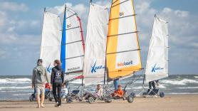 Beach Sailing in a duoseat adult/child 2