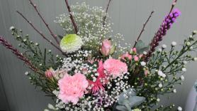 Boeket roze gemengd  1