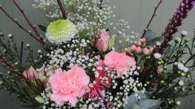 Boeket roze gemengd  3