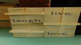 Steigerhouten bord met plankjes XXL 1