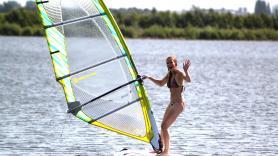 Groepslessen windsurfen 1